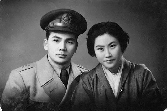 신혼시절의 박태준-장옥자 부부.