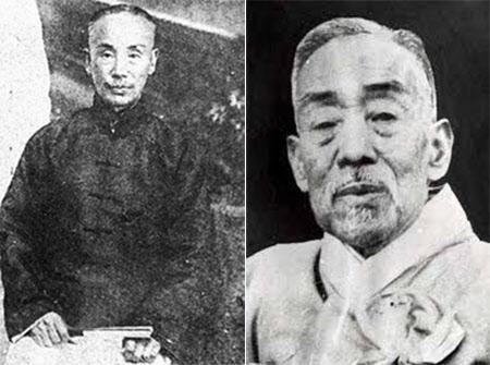 우당 이회영 선생(왼쪽)과 성재 이시영 초대부통령.