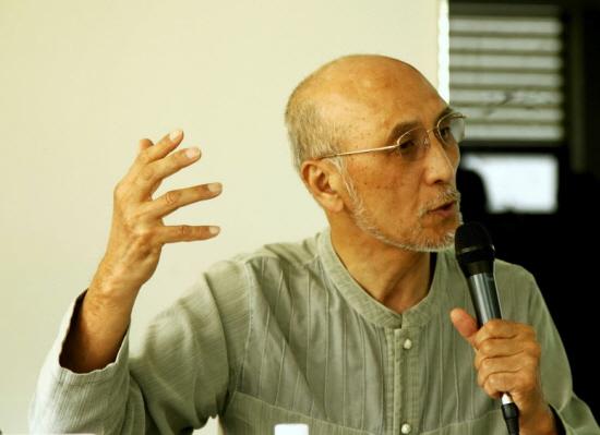 전길남 KAIST 명예교수가 2013년 6월 7일 조선비즈 연결지성포럼에서 '한국 인터넷 역사 프로젝트'와 '아시아 인터넷 역사 프로젝트'에 대해 설명하고 있다. /사진=최지웅 연구원