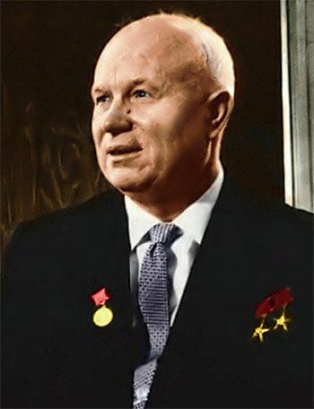 1953년부터 1964년까지 소련의 국가원수를 지낸 니키타 후르시초프.