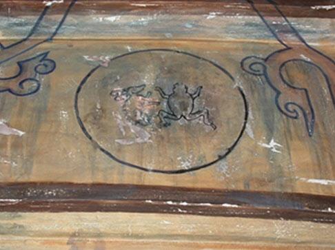 고구려 고분 벽화의 달 그림.