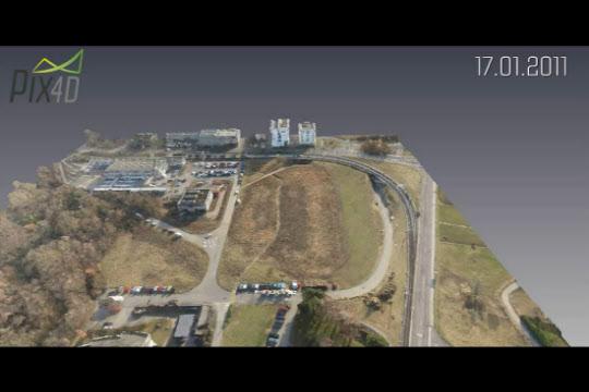 Pix4d가 드론으로 촬영한 이미지로 만든 3D 입체 지도