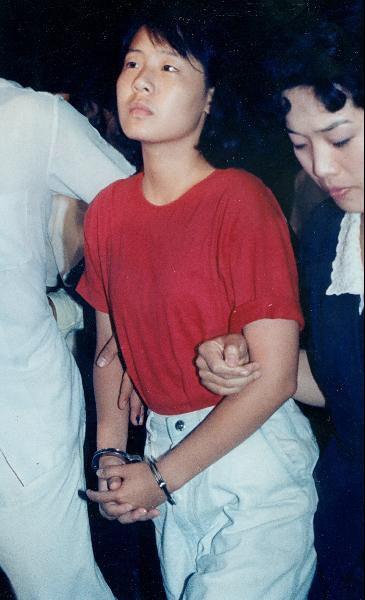 1989년 8월 20일 전대협대표로 평양축전에 참가했던 임수경양이 밀입북 혐의로 서울 중부경찰서에 수감되고 있다.
