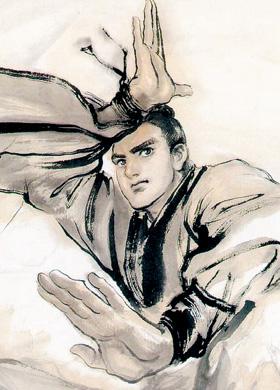 홍콩 만화가 리즈칭(李志淸)이 그린 '사조영웅전'의 주인공 곽정.