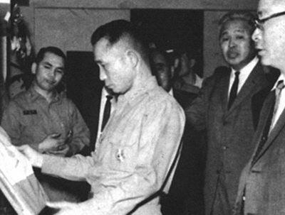 1970년 포항제철에서 박정희 대통령과 박태준 사장.