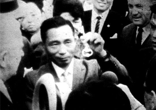 피츠버그를 방문한 박정희 대통령(1965년 5월).