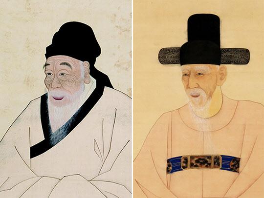 우암 송시열과 미수 허목(오른쪽).