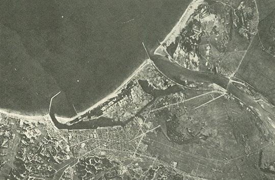 1967년 입지 선정 당시의 영일만 공장부지 지형.