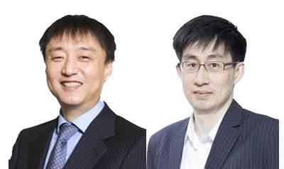 (사진 왼쪽부터) 이준호 NHN엔터테인먼트 의장, 신중호 라인플러스 대표