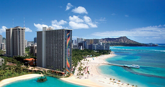 하와이 와이키키 해변.