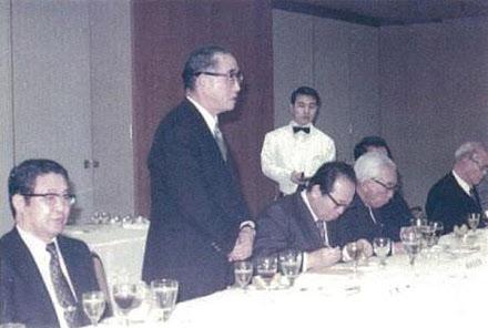 1960년대 야스오카의 주선으로 일본 정재계 모임에 참석한 박철언(맨 왼쪽).