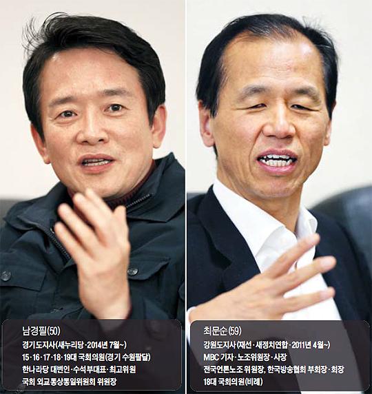 남경필, 최문순 지사 사진