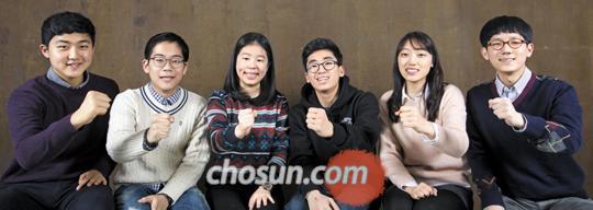 (왼쪽부터) 채제우·백재현·김신정·이상혁·전현진·김재혁. /한준호 기자