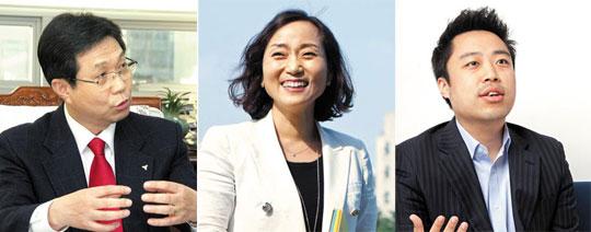 (왼쪽부터) 조관일 회장, 김경숙 교수, 조민혁 컨설턴트.