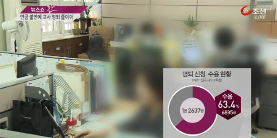 [뉴스쇼 판] 교사 '명퇴대란' 현실로…연금개혁에 6800여명 교단 떠나