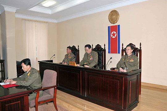 북한에서 재판 진행되는 모습/조선 DB