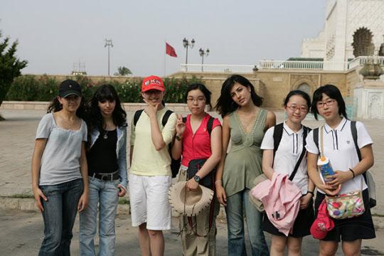 모로코에서 친구들과 함께