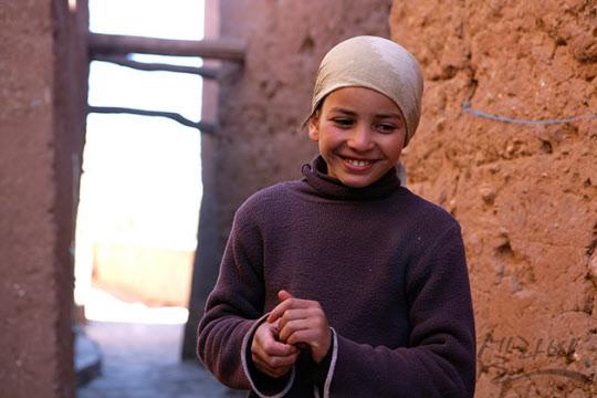 우아라자자트의 카스바(성)에서 만난 소녀.