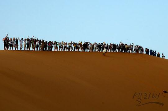 가장 높은 모래언덕의 해돋이