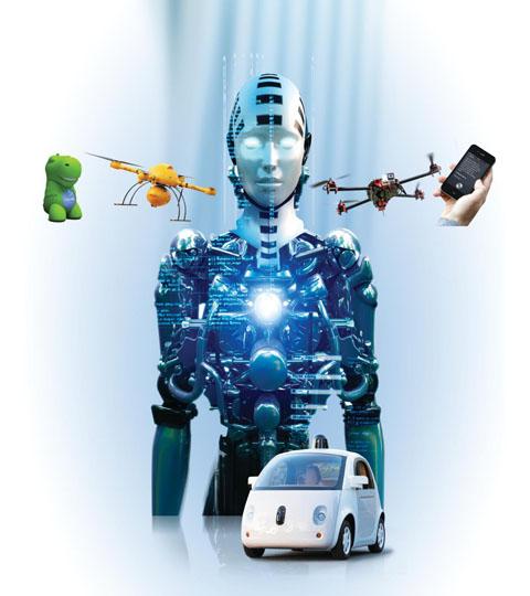 인간 로롯 및  자동차