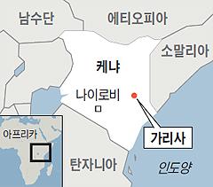 케냐 위치 지도