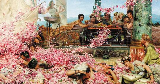 로렌스 앨머-타디머, 헬리오가발루스의 장미, 1888년, 캔버스에 유채, 132.1×213.7㎝, 개인 소장.