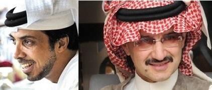 석유재벌로 수십조원 자산을 늘린 셰이크 만수르(좌)와 알왈리드 왕자(우)/조선DB