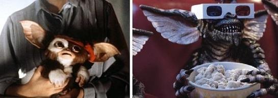 영화 '그렘린'에 등장한 기즈모(사진 왼쪽)과 그렘린/영화 스틸컷