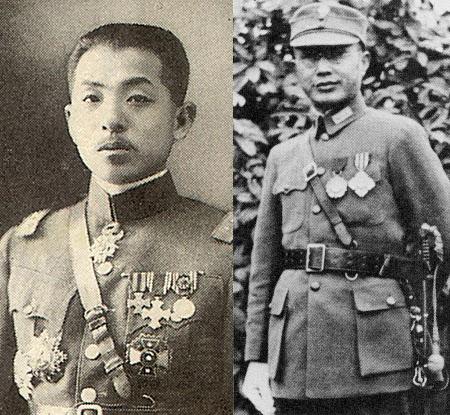 장학량(왼쪽)과 장제스.