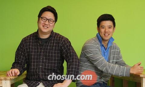 잡플래닛의 윤신근·황희승 공동대표(왼쪽부터)