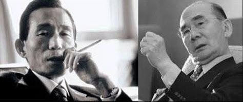 박정희 대통령(왼쪽)과 박태준 회장.