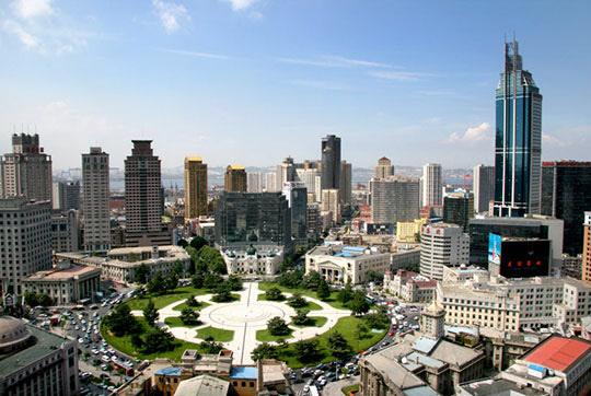 중국 랴오닝성 다롄의 중산광장. /바이두