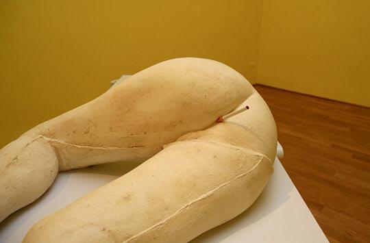 사라 루카스는 데미안 허스트 등과 함께 세계 미술계에 급부상한 화가로 미술계의 '불량소녀'라 불리우고 있다.