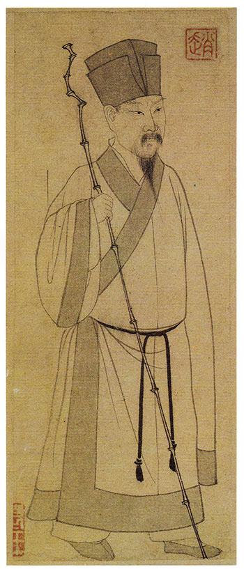 원나라 화가 조맹부(1254~1322)가 그린 소동파의 모습.  타이베이(臺北) 고궁박물원 소장. /조선일보DB