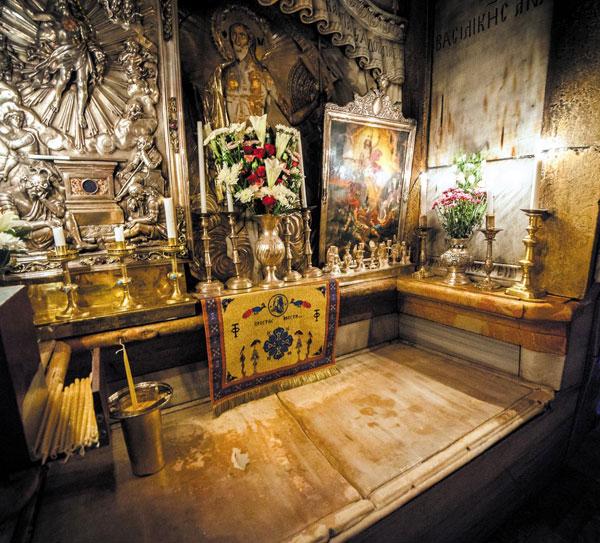 성묘교회의 예수 무덤.