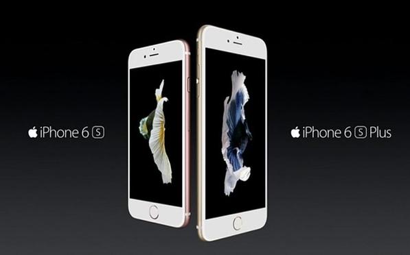 아이폰6s(왼쪽)와 아이폰6s 플러스(오른쪽)의 모습 /애플 신제품 공개행사 영상캡처