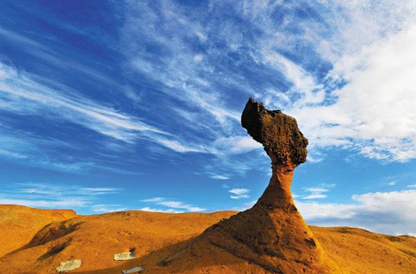 대만 야류 해안 공원에는 기암괴석이 즐비하다.