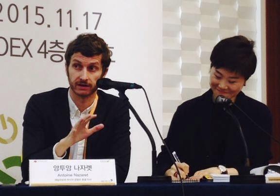 앙투앙 나자렛 데일리모션 아시아 콘텐츠 총괄이사(왼쪽) / 박진범 인턴기자
