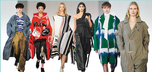 'H&M 디자인 어워드 2016' 결승 진출자들의 작품. 맨 오른쪽이 우승자 하나 진킨스 작품, 그 옆의 작품이 한국인 정이녹씨의 옷이다.