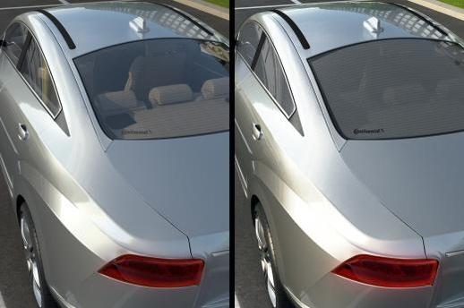 콘티넨탈이 'CES 2016'에서 선보이는 지능형 자동차 창문. /콘티넨탈 제공