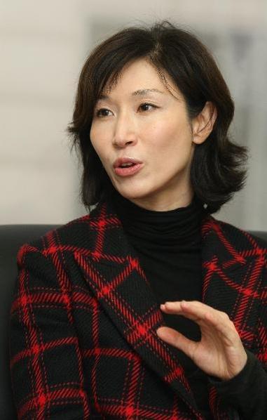 2011년 3월 노소영 아트센터 나비 관장이 인터뷰 하고 있는 모습./조선일보DB