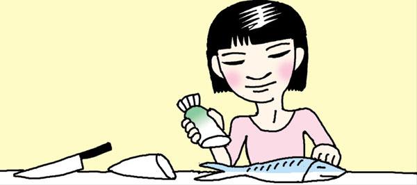 [리빙포인트] 생선 비늘, 무로 벗기세요