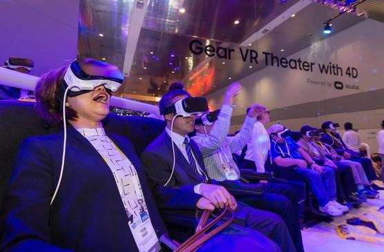 삼성전자가 CES 2016에서 공개한 '기어VR' 4D 영화관의 모습 /삼성전자 블로그 캡처