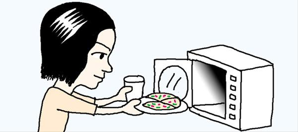 [리빙포인트] 굳은 피자 촉촉하게 데우려면