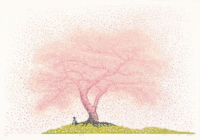 花雨-2011 133×93cm 유성목판화 2011년 김준권 작품.