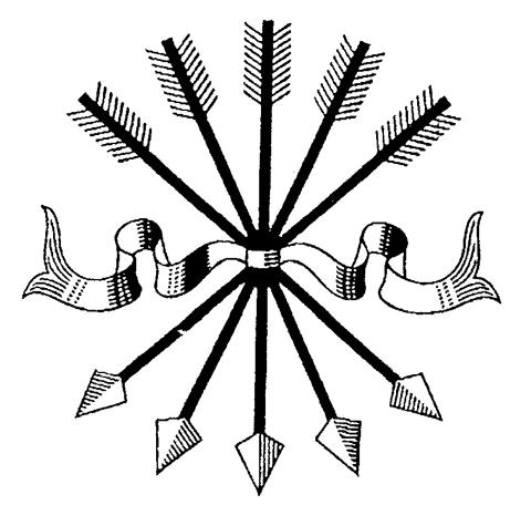 로스차일드 가문을 상징하는 화살 5개.