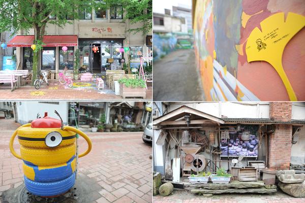 문화의 거리에서는 다양한 조형물과 골목길, 체험 등 이름 그대로 '문화'를 즐길 수 있다.