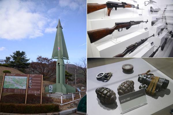 다부동전적기념관의 야외와 실내 전시물