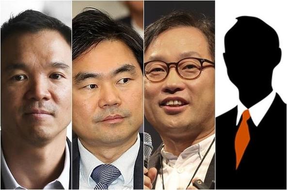 왼쪽부터 김정주 넥슨 창업자, 진경준 검사장, 김상헌 네이버 대표, 박성준 전 NXC 감사