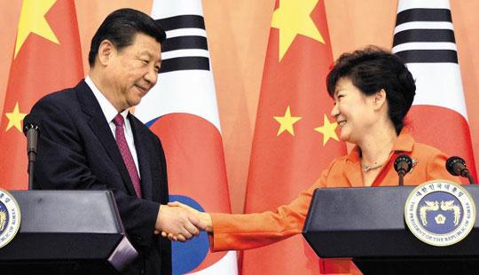 박근혜 대통령과 시진핑 주석 사진